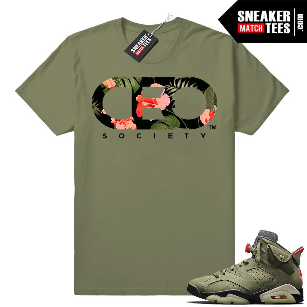 Travis Scott 6s Matching Sneaker tees