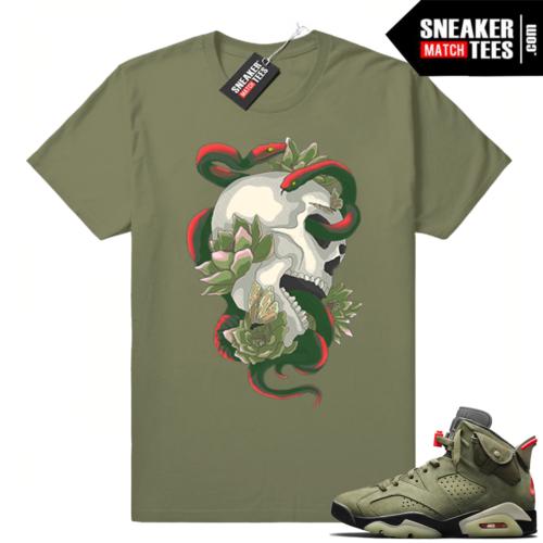 Travis Scott 6s Serpent Skull T-shirt