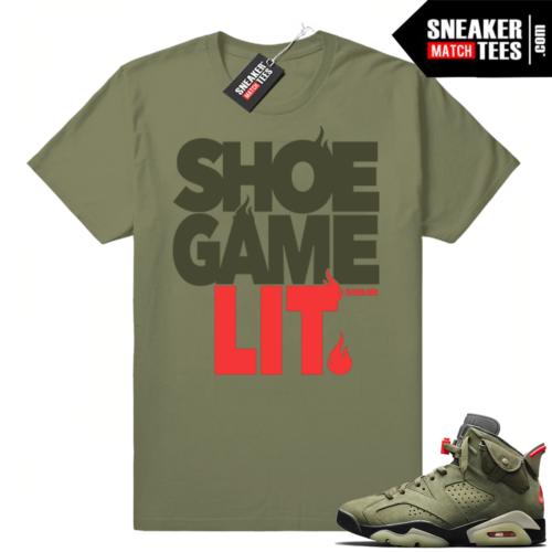 Travis Scott 6s Shoe Game Lit shirt