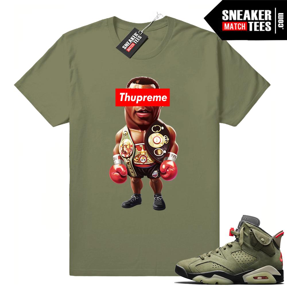 Travis Scott 6s Thupreme Tyson shirt