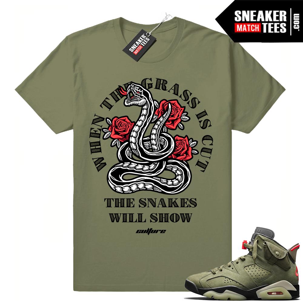 Travis Scott 6s matching sneaker shirts