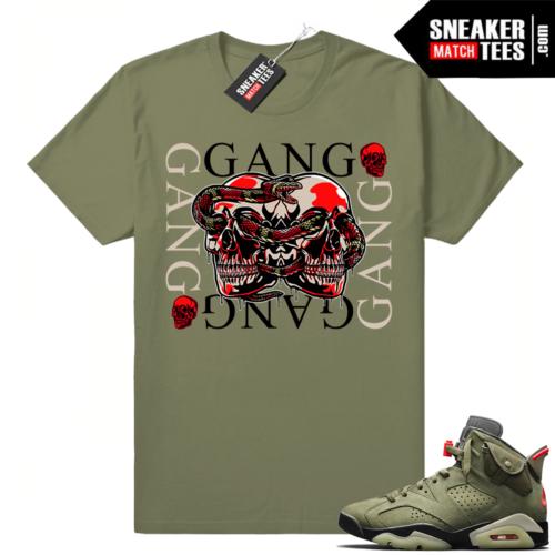 Travis Scott 6s tee shirt match