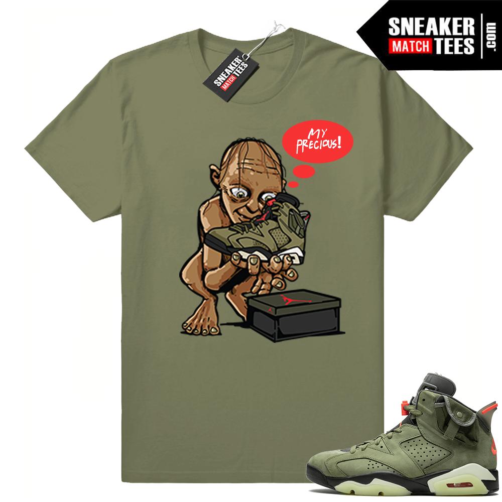 Travis Scott Jordans match shirts