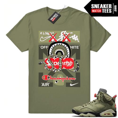 Travis Scott Shirts match Jordan 6