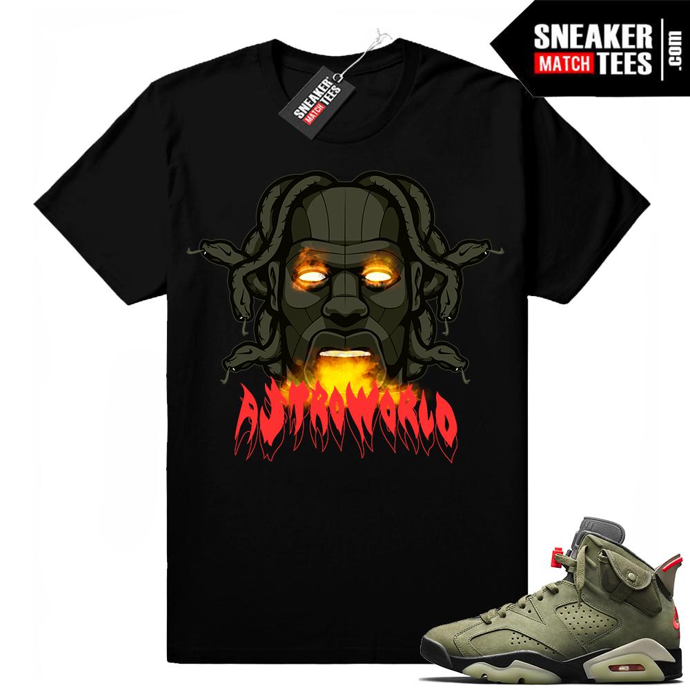 Travis Scott x Jordan 6 Black shirt Astroworld Gates