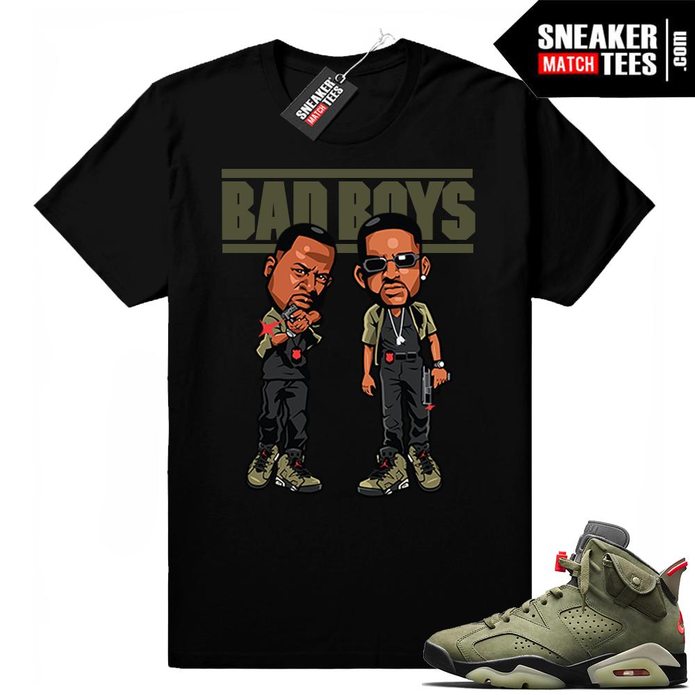Travis Scott x Jordan 6 Black shirt Bad Boys