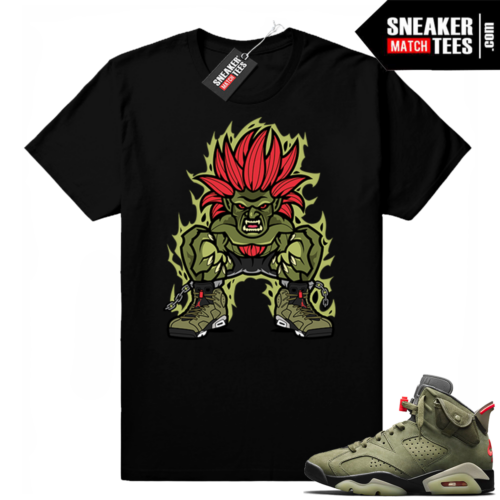 Travis Scott x Jordan 6 Black shirt Blanka