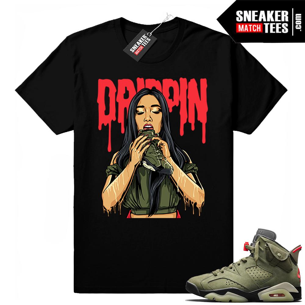 Travis Scott x Jordan 6 Black shirt Drippin 6s