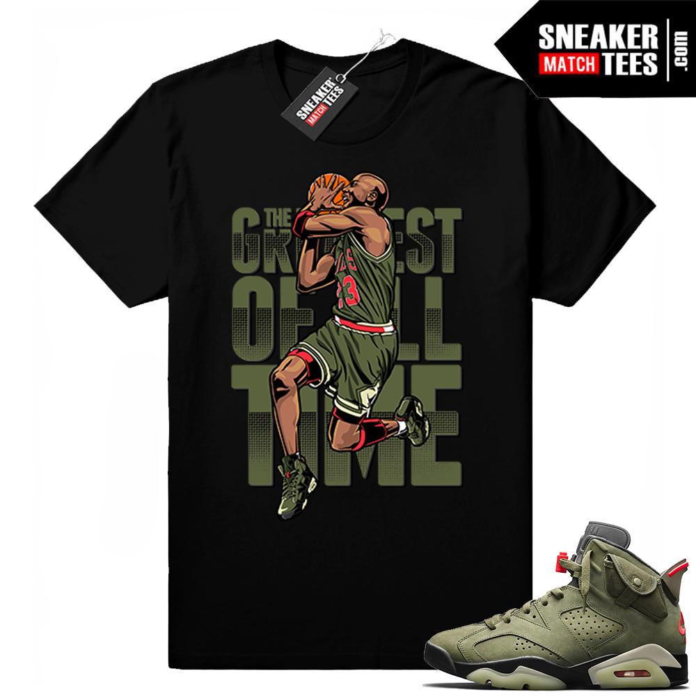 Travis Scott x Jordan 6 Black shirt Greatest