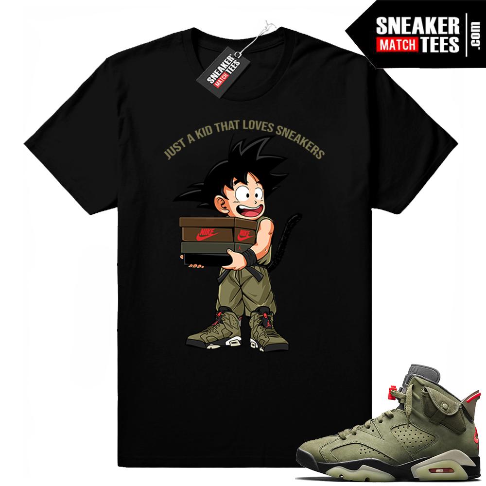 Travis Scott x Jordan 6 Black shirt Just A Kid