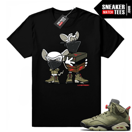 Travis Scott x Jordan 6 Black shirt Sneaker heist