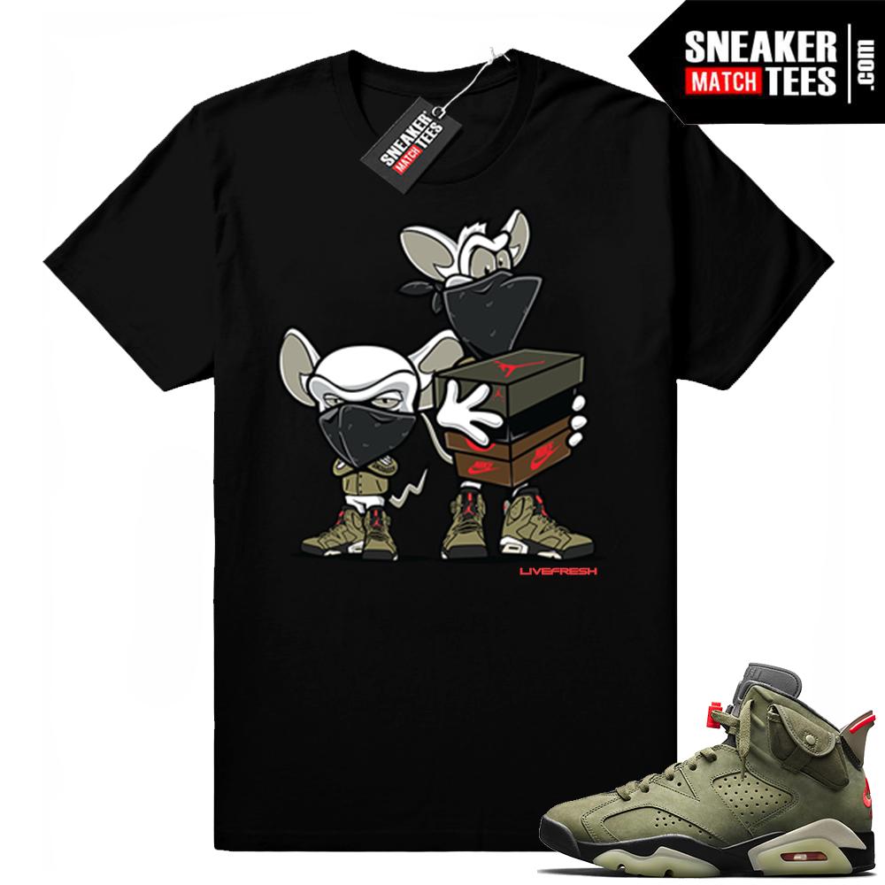 Travis Scott x Jordan 6 Black shirt Sneaker heist