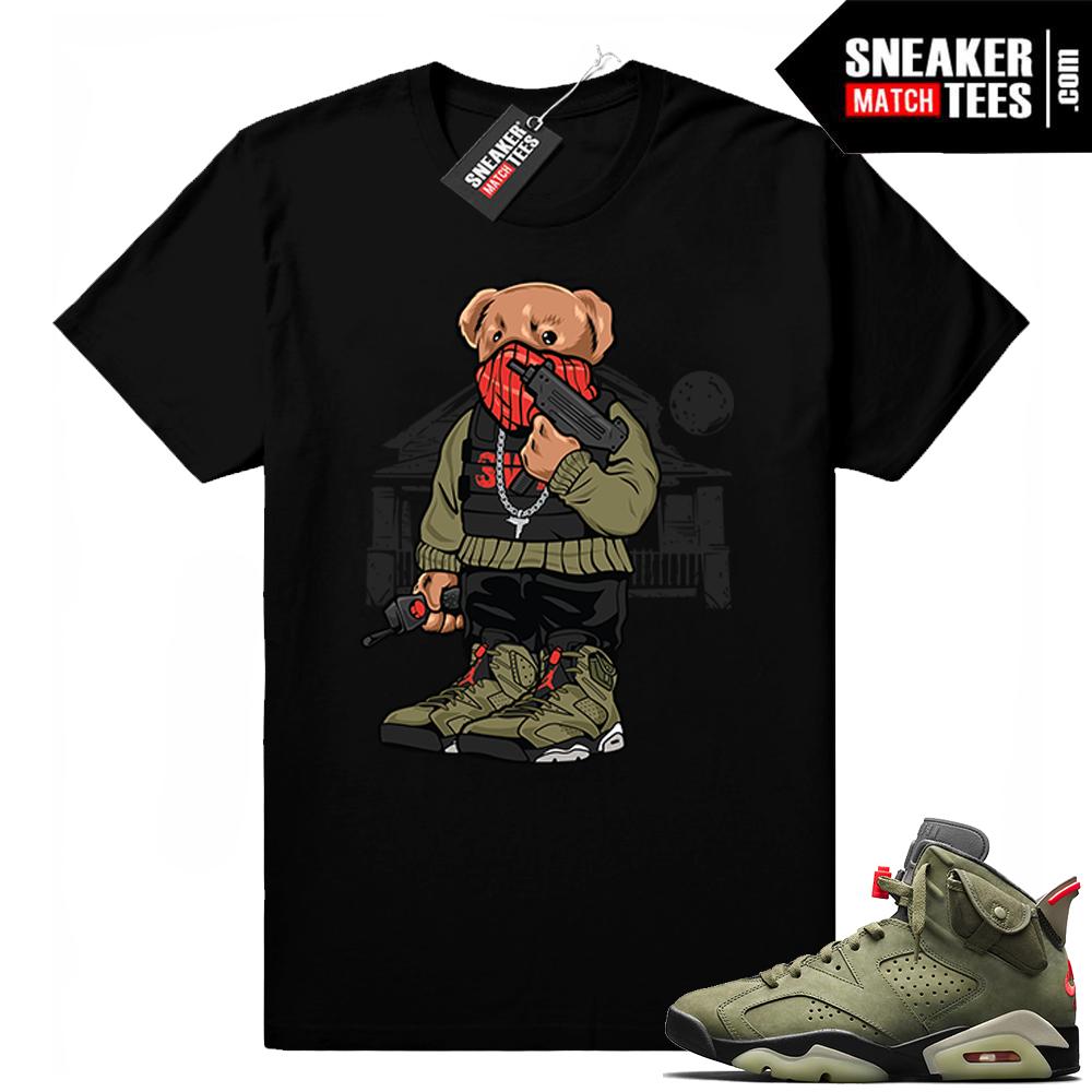 Travis Scott x Jordan 6 Black shirt Trap Bear