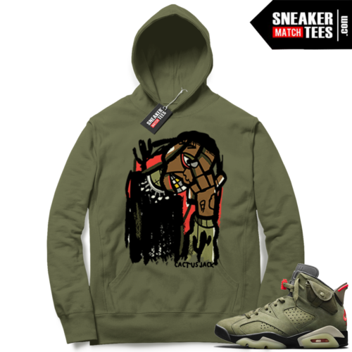 Travis Scott x Jordan 6 Olive Hoodie Cactus Jack Abstract