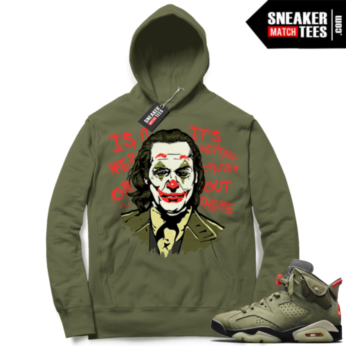 Travis Scott x Jordan 6 Olive Hoodie Joker