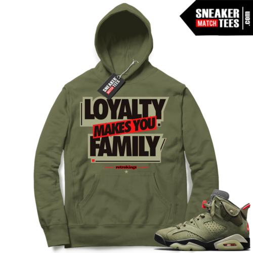Travis Scott x Jordan 6 Olive Hoodie Loyalty