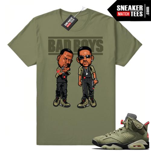 Travis Scott x Jordan 6 Olive shirt Bad Boys