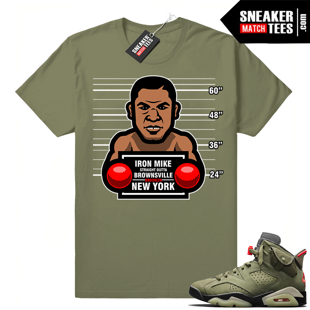 Travis Scott x Jordan 6 Olive shirt Convicts Tyson