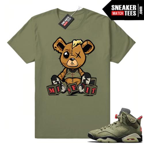 Travis Scott x Jordan 6 Olive shirt Misfit Teddy