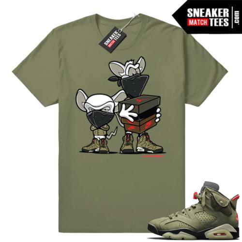 Travis Scott x Jordan 6 Olive shirt Sneaker heist
