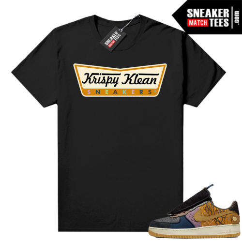 Air Force 1 Cactus Jack shirt black Krispy Klean Sneakers
