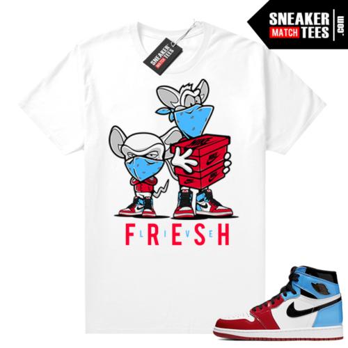 Fearless 1s matching t-shirt White Sneaker Heist
