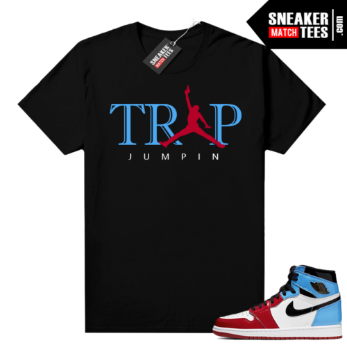 Fearless 1s shirt black Trap Jumpin 2.0