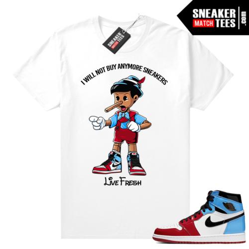 Fearless 1s tees White Sneakerhead Pinocchio