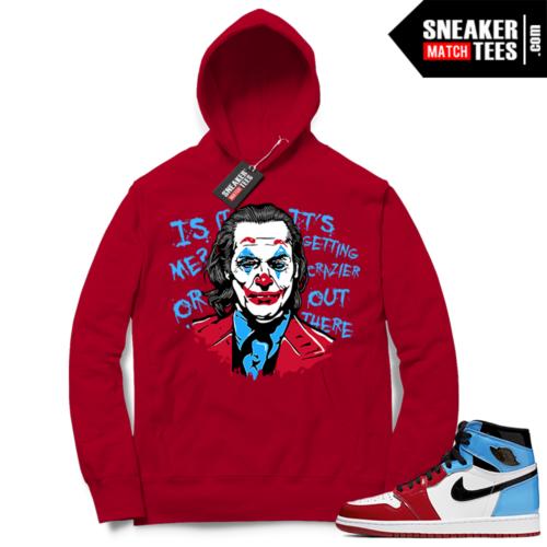 Fearless Jordan 1 Hoodie red Joker