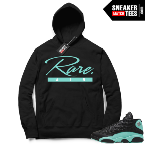 Island Green 13s Hoodies black Rare Air Script