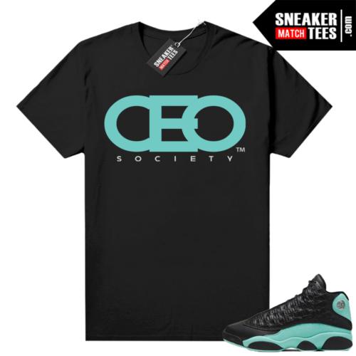 Island Green 13s shirt black CEO Society