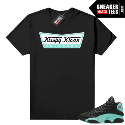 Island Green 13s shirt black Krispy Klean Sneakers