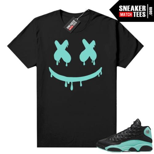 Island Green 13s shirt black Smiley Drip