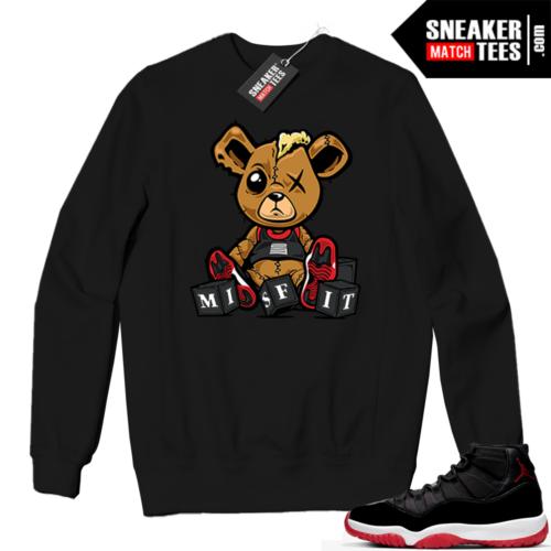 Jordan 11 BRED Crewneck Sweatshirt Misfit Teddy