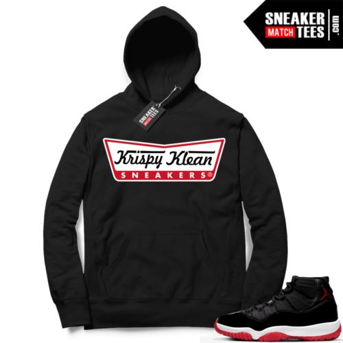 Jordan 11 Bred Hoodies Krispy Klean Sneakers
