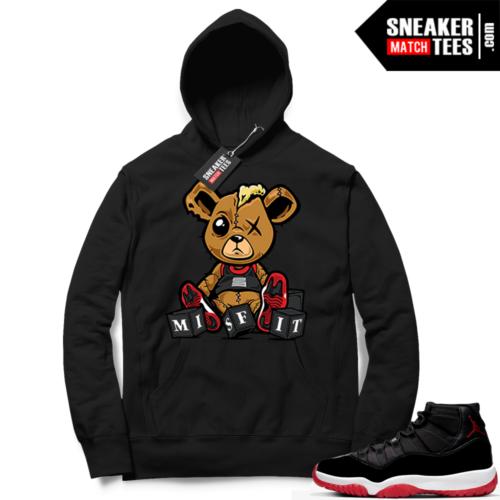 Jordan 11 Bred Hoodies Misfit Teddy