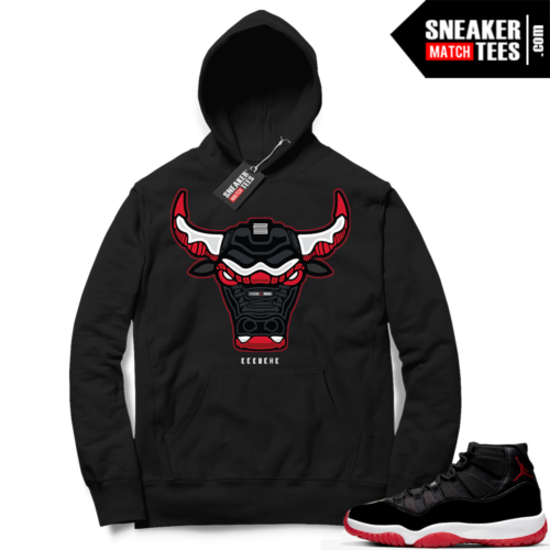 Jordan 11 Bred Hoodies Rare Air Bull
