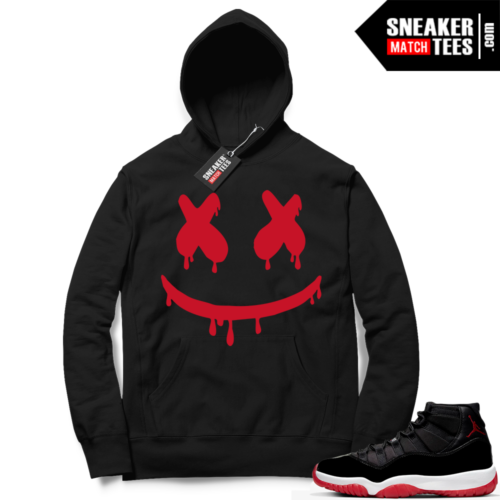 Jordan 11 Bred Hoodies Smiley Drip
