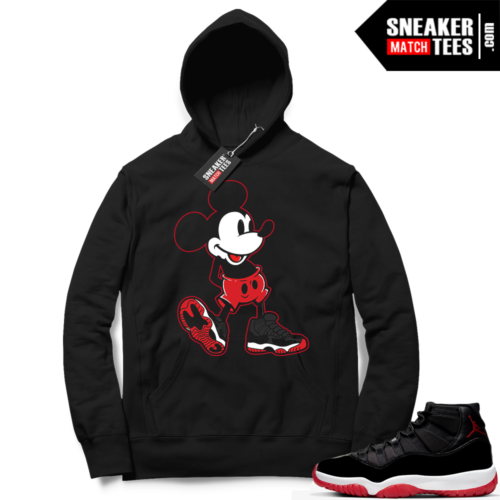 Jordan 11 Bred Hoodies Sneaker Head Mickey