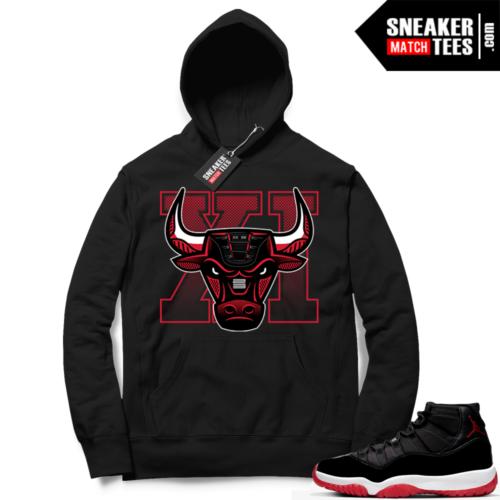 Jordan 11 Bred Hoodies Sneaker bully