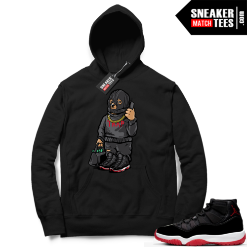 Jordan 11 Bred Hoodies Trap Bear