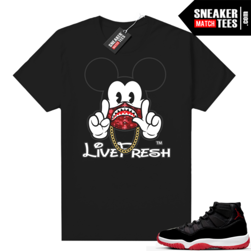 Jordan 11 Bred shirt 11s Up