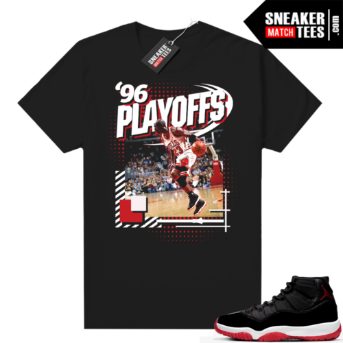 Jordan 11 Bred shirt 96 Playoffs