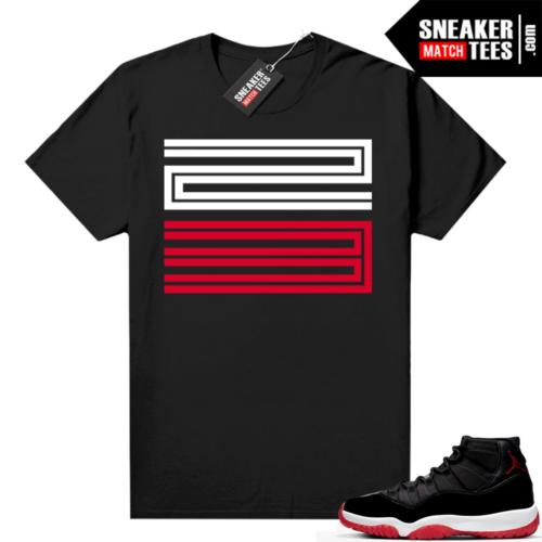 Jordan 11 Bred shirt Black 23