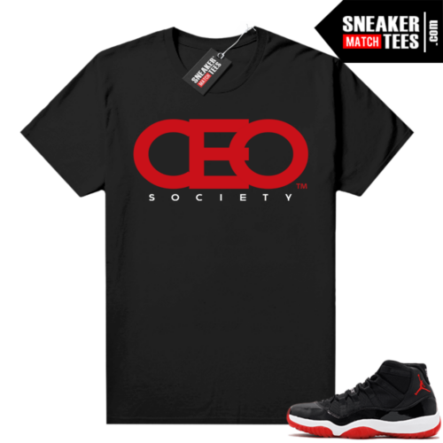 Jordan 11 Bred shirt Black CEO Society