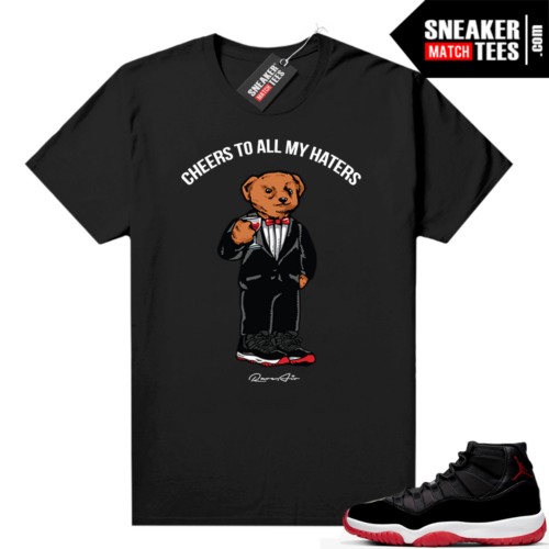 Jordan 11 Bred shirt Black Cheers To all my Haters