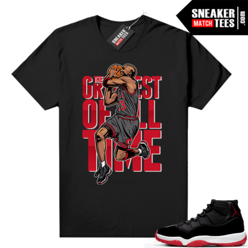 Jordan 11 Bred shirt Black Greatest