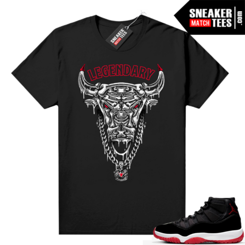 Jordan 11 Bred shirt Black Legendary Bull