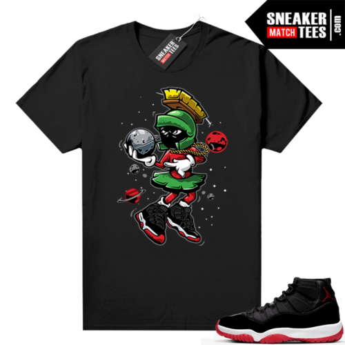 Jordan 11 Bred shirt Black Martian Destroy