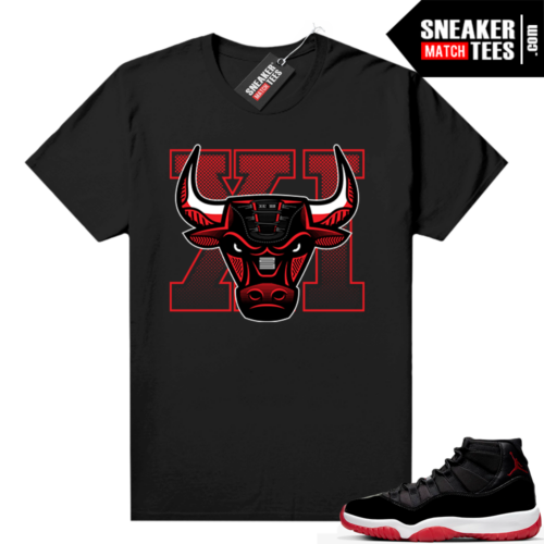Jordan 11 Bred shirt Black Sneaker Bully